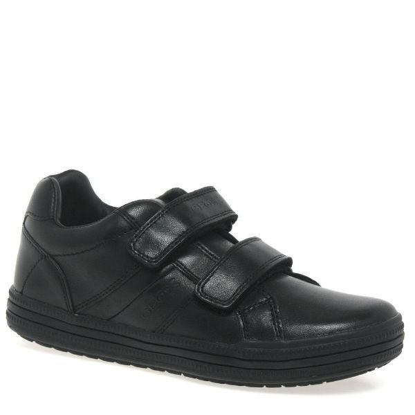 Boys Uniform Shoes - Geox Elvis Boys Leather Uniform Schools Shoes