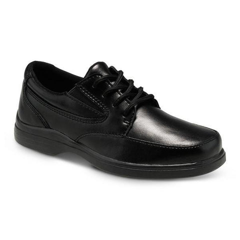 Boys Uniform Shoes - Hush Puppies TY Black Leather Uniform Shoes / Youth