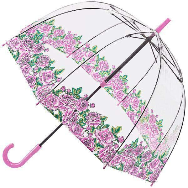 Fulton Clear Dome Kids Umbrella Pretty Petals - ShoeKid Canada