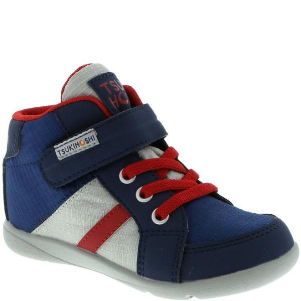 Boys Running Shoes - Tsukihoshi Grid (Toddler/Little Kid) Boys Boot / Navy Red