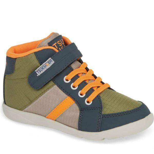 Boys Running Shoes - Tsukihoshi Grid (Toddler/Little Kid) Boys  Boot / Charcoal Orange