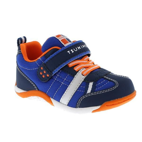 Boys Running Shoes - Tsukihoshi KAZ (Toddler/Little Kid) Boys Running Shoes /Navy Tangerine