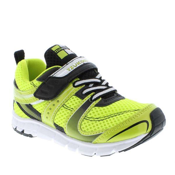 Boys Running Shoes - Tsukihoshi VELOCITY Lime Black /Little Kid/Big Kid