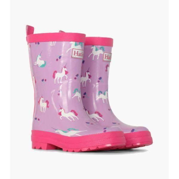 Hatley Playful Unicorns Girls Rain Boots