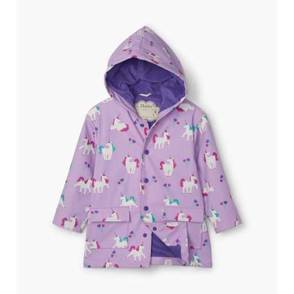 Hatley Playful Unicorns Girls Rain Coats