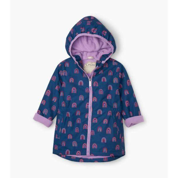 Hatley Rainbow Party Microfiber Girls Rain Coats