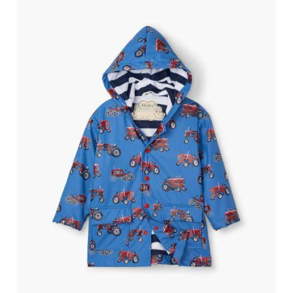 Hatley Vintage Tractors Boys Raincoat 100% Waterproof - ShoeKid.ca
