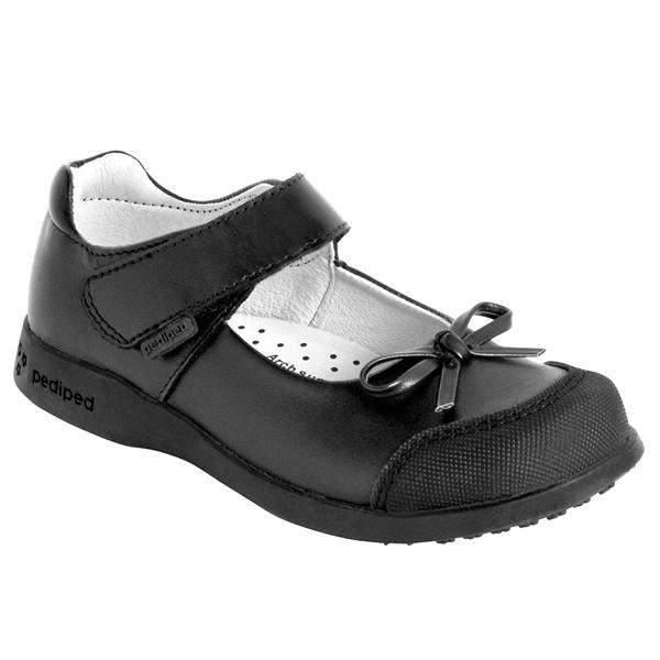Pediped Becky Black Uniform Shoes (Toe Scuff Guard) - ShoeKid Canada