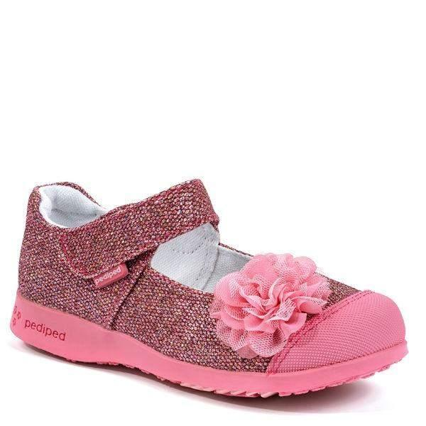 Pediped Estella Pink Girls Vegan Casual Shoes