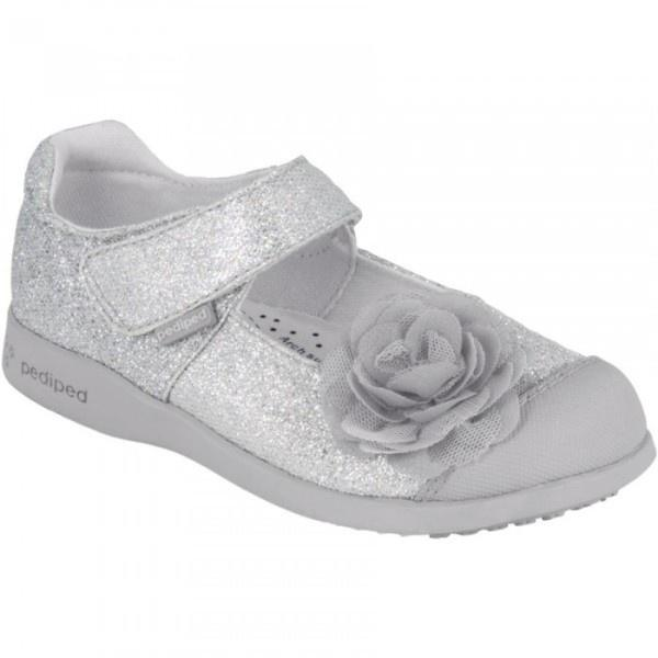 Pediped Estella Silver Girls Vegan Casual Shoes