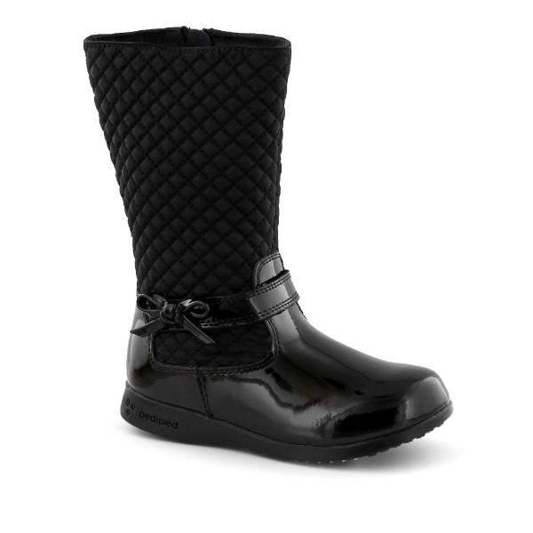 Pediped Naomi Black Leather Boot / Little Kids / Youth - ShoeKid Canada