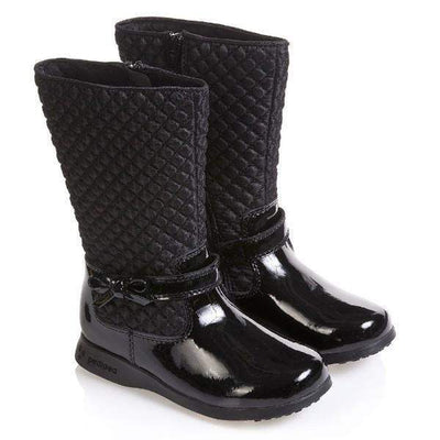 Girls Casual Shoes - Pediped Flex Naomi Black Leather Boot / Little Kids / Youth