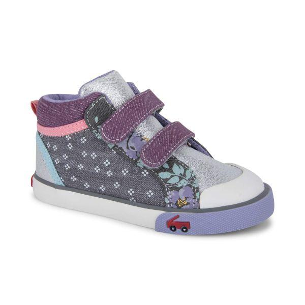 See Kai Run Girls Kya Gray Purple Mix - ShoeKid Canada