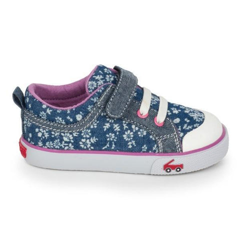 Girls Casual Shoes - See Kai Run Kristin Blue Flowers / Toddler / Little Kids