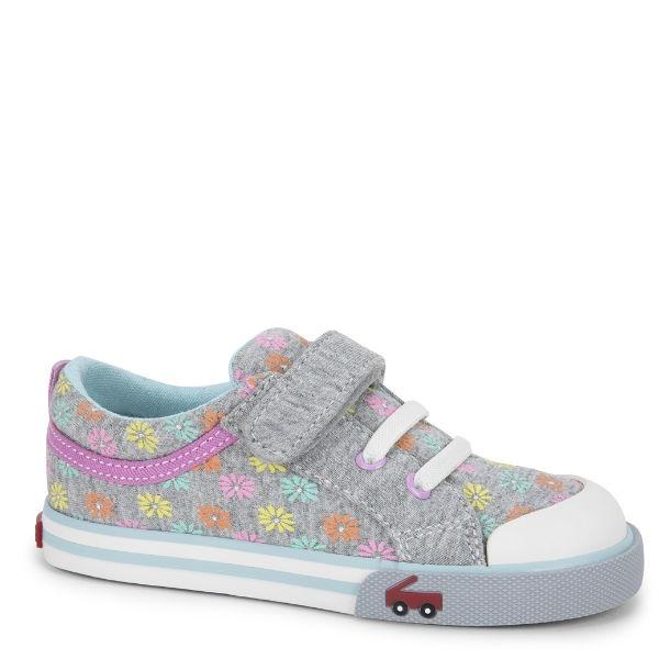 Girls Casual Shoes - See Kai Run - Kristin Sneakers For Kids, Daisies