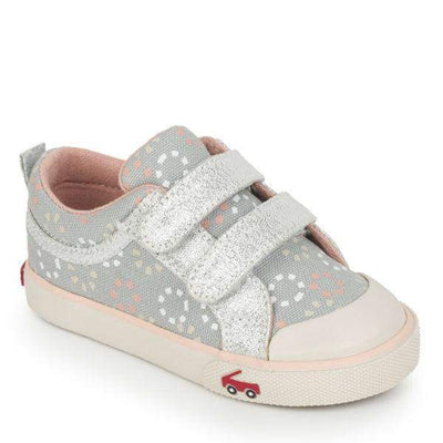 See Kai Run Robyne Gray Silver Canvas - ShoeKid Canada