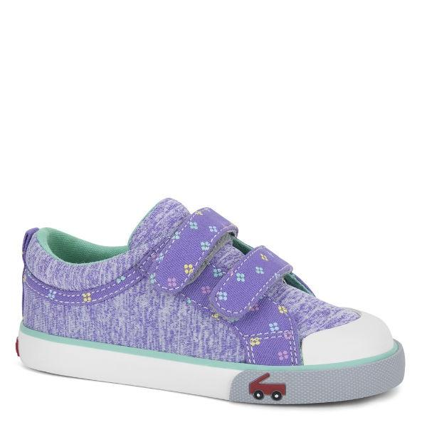 Girls Casual Shoes - See Kai Run - Robyne Sneakers For Kids, Purple Jersey