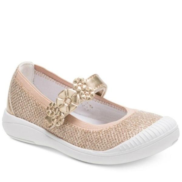 Girls Casual Shoes - Stride Rite Layla Girls Casual Shoes / Gold Bling /Toddler / Little Kids