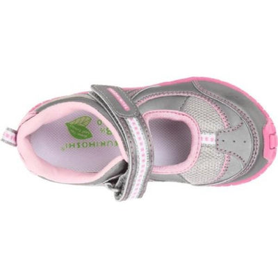 Girls Casual Shoes - Tsukihoshi  NATSU /Toddler/Little Kid/ Machine Washable / Silver Pink