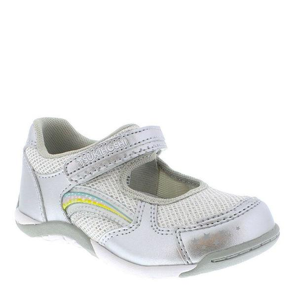 Girls Casual Shoes - Tsukihoshi Twinkle Casual / Silver / Little Kids / Washable