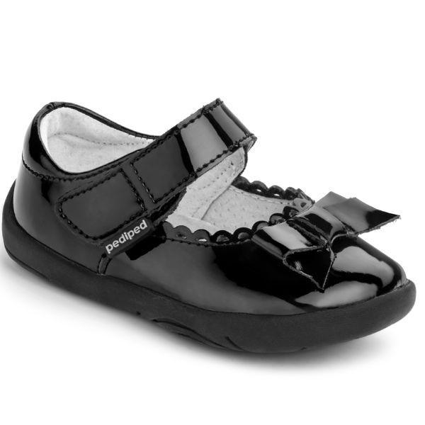 Girls Dress Shoes - Pediped Grip And Go Becky Black Toddler Dress Shoes