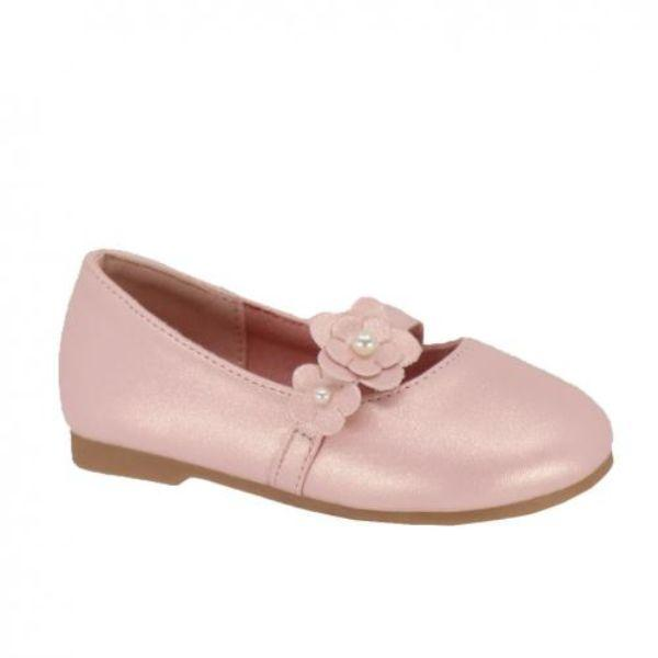 Girls Dress Shoes - Taxi Daisy Girls Milk Pink Dress Shoes (Baby/Toddler/Little Kid)