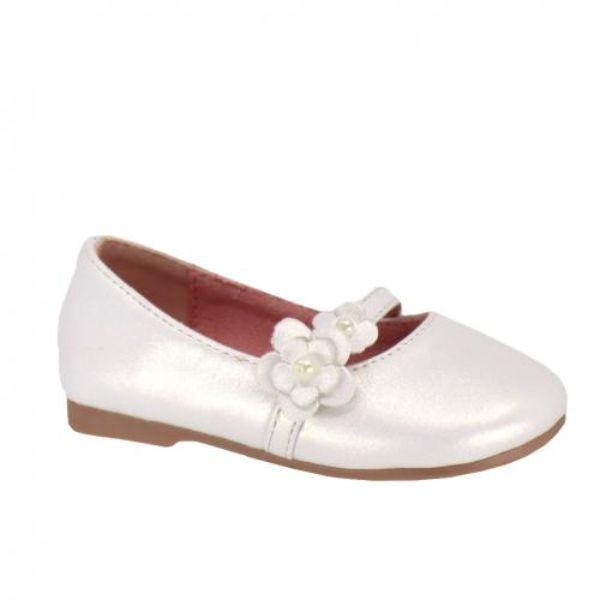 Girls Dress Shoes - Taxi Daisy Girls White Dress Shoes (Baby/Toddler/Little Kid)