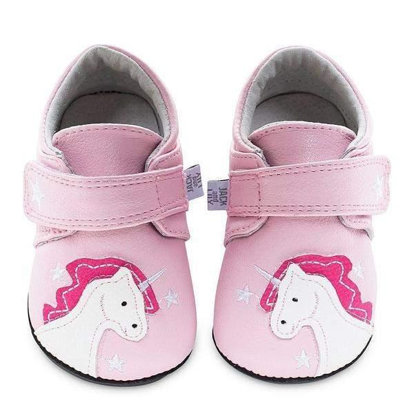 Girls First Walking Shoes - Jack & Lily Pink Unicorn / Toddle R Shoes