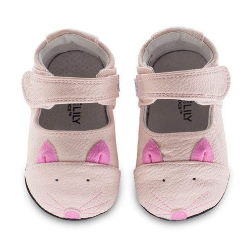 Girls First Walking Shoes - Jack & Lily ROBIN Kitty Pink