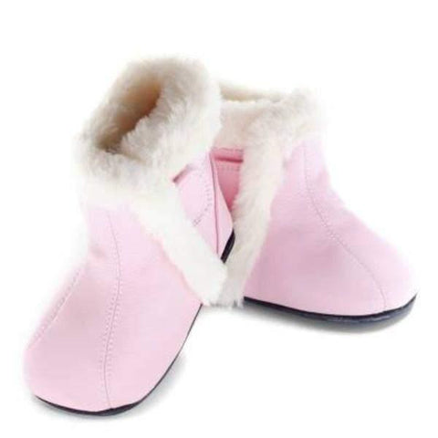 Girls First Walking Shoes - Jack & Lily SOFIA ESTEL Pink Leather Boot