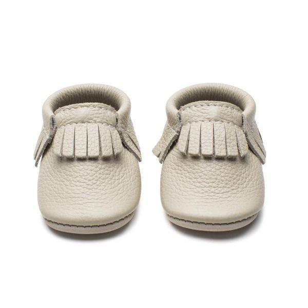 Girls First Walking Shoes - Minimoc Arctic Wolf Baby Shoes