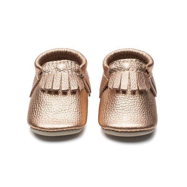 Minimoc Rose Gold Baby Shoes - ShoeKid Canada