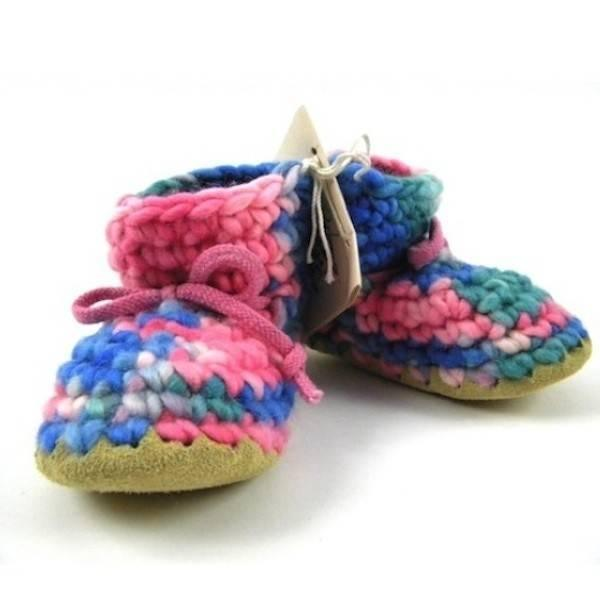 Padraig Baby Pink Multi / Infant / Toddler Slippers - ShoeKid.ca
