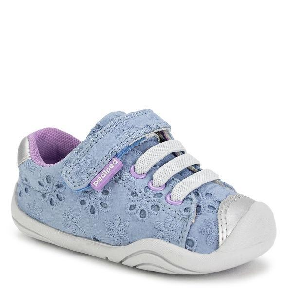Pediped Jake Pink Grip and Go Sky Eyelet / Baby/Toddler - ShoeKid Canada