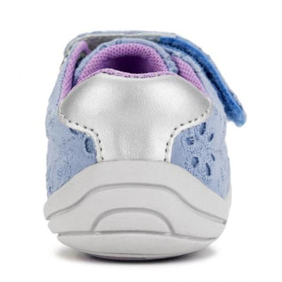 Girls First Walking Shoes - Pediped Jake Pink Grip And Go Sky Eyelet /  Baby/Toddler