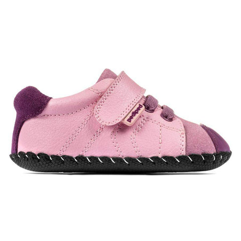 Girls First Walking Shoes - Pediped Originals Jake Pink / Baby / Infant First Walking Shoes