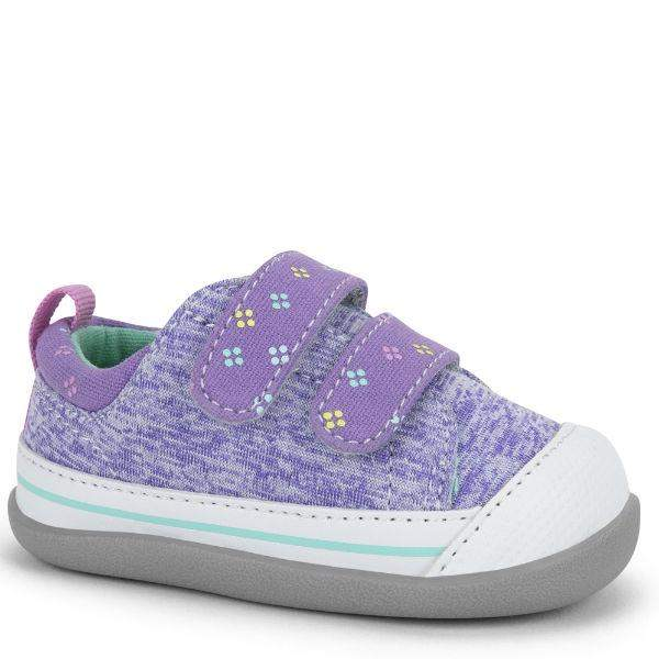 Girls First Walking Shoes - See Kai Run - Robyne Sneakers For Infants, Purple Jersey