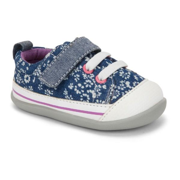 See Kai Run Stevie II INF Blue Flowers / Infant / Toddler - ShoeKid Canada