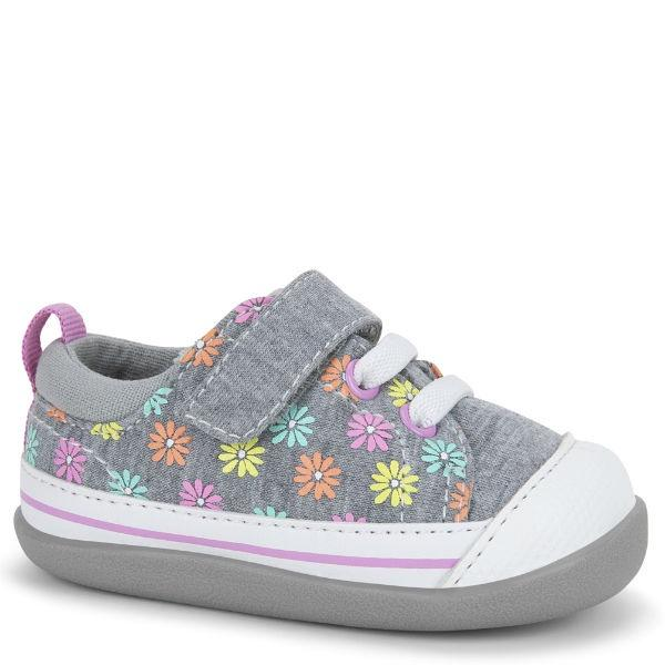 Girls First Walking Shoes - See Kai Run - Stevie II Sneakers For Infants, Daisies