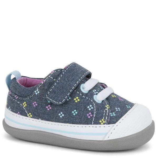 Girls First Walking Shoes - See Kai Run - Stevie II Sneakers For Infants, Diamond Dots