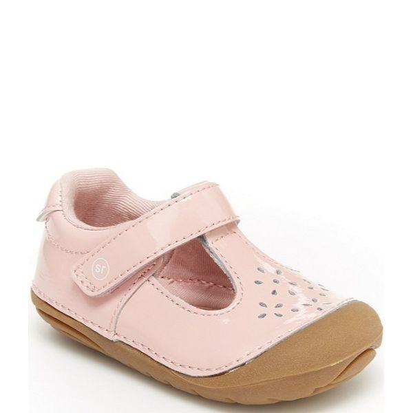 Girls First Walking Shoes - Stride Rite Amalie Pink Leather Baby Toddler Shoes