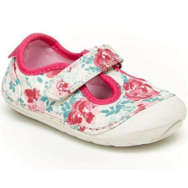 Girls First Walking Shoes - Stride Rite Hannah Floral Infant/Toddler