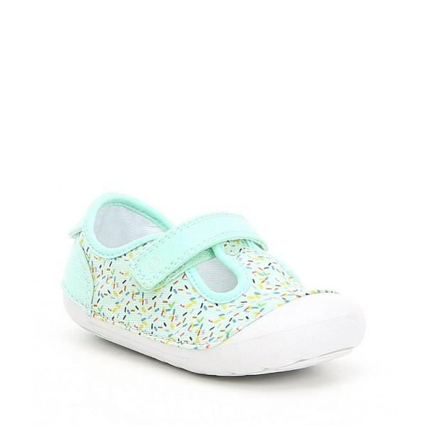 Girls First Walking Shoes - Stride Rite Hannah Mint Sparkle Infant/Toddler