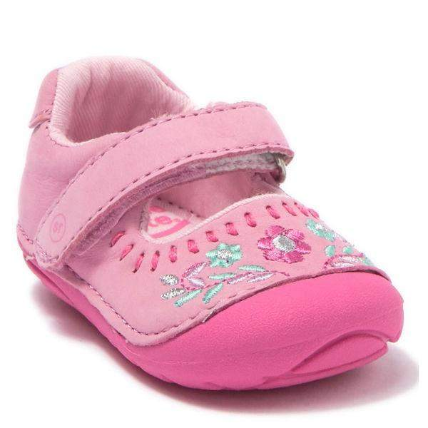 Girls First Walking Shoes - Stride Rite SM ATLEY Leather Pink Shoes Infant/Toddler