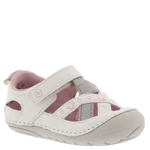 Stride Rite SM KIKI/WHITE Leather / Infant/Toddler - ShoeKid Canada
