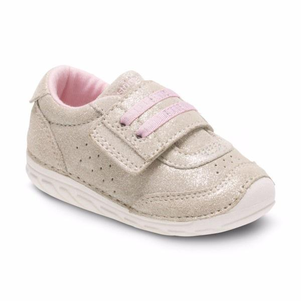 Girls First Walking Shoes - Stride Rite SRT SM WYATT / GOLD CHAMPAGNE / Infant / Toddler