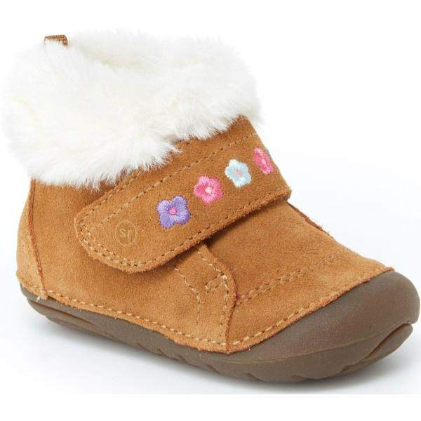 Girls First Walking Shoes - Stride Rite SRT Sophie Cozy Booty / Brown / Infant/Toddler