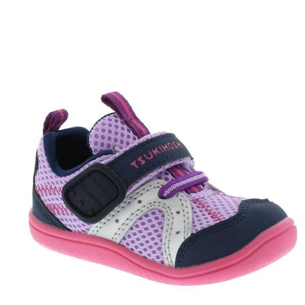 Girls First Walking Shoes - Tsukihoshi Baby Marina Lavender Navy / Infant/Toddler  /Water Friendly/