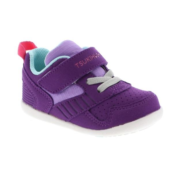 Girls First Walking Shoes - Tsukihoshi Baby Racer Purple Lavender / Machine Washable / Infant/Toddler