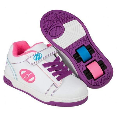 Girls Heelys - Heelys Dual Up X2 White Neon / Little Kids / Youth